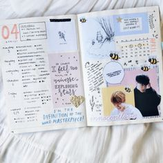 """ttstudys: """" 《15072017 • : Hurricane - Hoshi》 A moodboard of my favourite spreads in my bullet journal for the first half of 2k17. (open up for 'better' quality xx) """""""