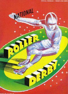 National Roller Derby Program ( Vintage / Retro Illustration )