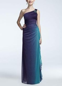 Purple/Teal prom dress but I think it would make a great bridesmaid dress. Peacock Wedding