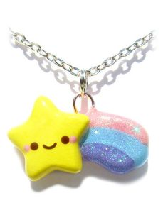 Glitter Shooting Star Necklace