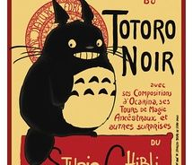 Totoro Art Nouveau thingy. Not sure why. I like it though!