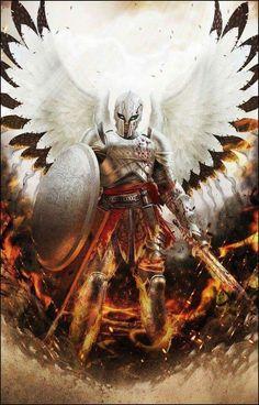 super ideas for dark art male wings Foto Fantasy, Fantasy Kunst, Dark Fantasy, Male Angels, Angels And Demons, Arte Obscura, Ange Demon, Illustration, Fantasy Warrior