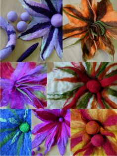 FELTING matters - beautiful felt flowers - mush more at site *** lovely site ***