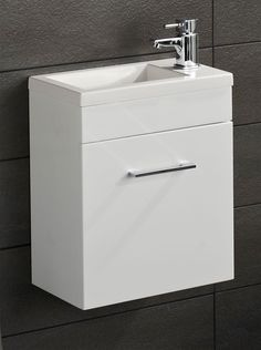 Lomond Gloss White Wall Hung Cloakroom Vanity Unit