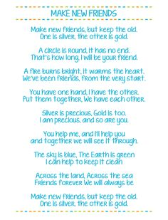 Make New Friends Free Printable Girl Scouts