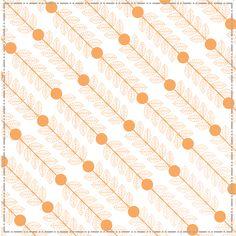Tangerine Vines #pattern #tangerine #pretty #greeklife #sorority #sisterhood #sisters #geneologie
