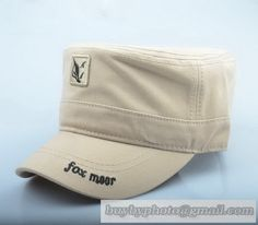 0c755d6064f Fox Moor Military Cap Flat-Topped Cap Mens Casual Summer Hat Cap Cotton Cap  Outdoor Sun Hat Spring Beige