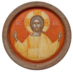 Christ icon by Gabriel Toma Chituc Byzantine Icons, Byzantine Art, Religious Icons, Religious Art, Christ Pantocrator, Roman Church, Images Of Christ, Religious Paintings, Church Architecture
