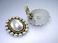 Earrings Sterling Silver Clip OnTaxco Mexico TG-