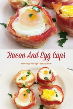 Bacon And Egg Cups - This Bacon and Egg Cups recipe is an easy breakfast to make while also being gluten-free, paleo, low carb, keto and Atkins diet friendly. You can't go wrong with this protein packed breakfast! Delicious Breakfast Recipes, Brunch Recipes, Yummy Food, Recipes Dinner, Fun Food, Tasty, Protein Packed Breakfast, Breakfast Cups, Bacon Breakfast