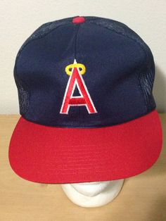 6f8277b0fe8 Items similar to Sports Specialties Los Angeles Angels of Anaheim Vintage  90s Trucker Baseball Snapback Hat Cap on Etsy