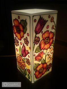 Grupart.pl - Lampa Stołowa  kwiatowa - Wnętrze - Lampy