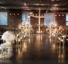 To see more gorgeous wedding decor ideas for your ceremony & reception: http://www.modwedding.com/2014/11/07/37-gorgeous-flower-filled-wedding-ideas-diana-gould-ltd/ #wedding #weddings #wedding_ceremony Event Design: Diana Gould Ltd.