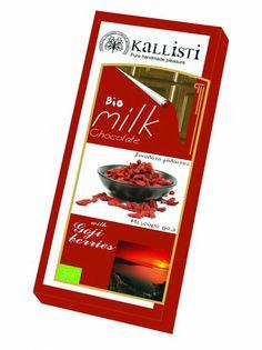 σοκολάτα με goji berries- chocolate with goji berries/superfoods