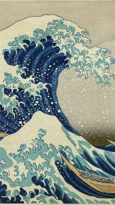 【人気71位】神奈川沖浪裏 - 葛飾北斎 | 日本絵画のiPhone壁紙 | iPhoneX,スマホ壁紙/待受画像ギャラリー