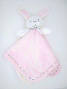 New Baby Nunu White Bunny Pink Baby Security Blankets & Beyond #BlanketsBeyond