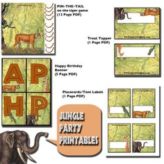 Jungle Party Free Printables
