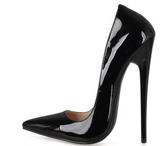 Super High Heel 16Cm Womens Stiletto Patent Leather Pumps Party Pointed Toe Shoe