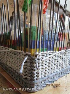 Поделка изделие Плетение МК коробки со шнуровской Трубочки бумажные фото 14
