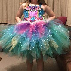 Items similar to Girls Fairy Woodland Forest Tutu Dress Costume. Optional Feather Wings + Headband on Etsy Princess Tutu Dresses, Cinderella Dresses, Flower Girl Dresses, Tutu Costumes, Costume Dress, Rainbow Tutu, Rainbow Unicorn, Vestidos Color Pastel, Godmother Dress