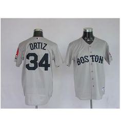 David Ortiz Grey Jersey $18.99 This jersey belongs to David Ortiz, Boston Red Sox #34  Color: grey Size: M, L, XL, XXL, XXXL  The jersey is made of heavy fabric with nylon diamond weave mesh