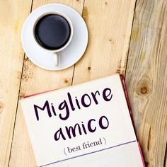 Parola del giorno / Word of the day: Migliore amico (Best friend). Tu sei sempre stato il mio migliore amico. = You've always been my best friend. Learn more about this word and see example phrases by visiting our website! #italian #italiano #italianlanguage #italianlessons Italian Lessons, French Lessons, Spanish Lessons, Italian Phrases, Italian Quotes, Learn To Speak Italian, Learn French, Learning Italian, Learning Spanish