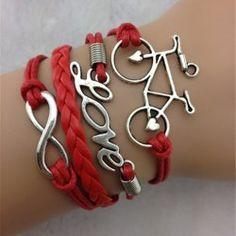 Wholesale Sweet Eight Love Bracelet For Women (BLACK), Bracelets - Rosewholesale.com