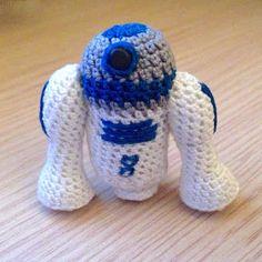 La piccola bottega della Creatività: Star Wars: R2-D2 amigurumi - tutorial uncinetto free crochet pattern