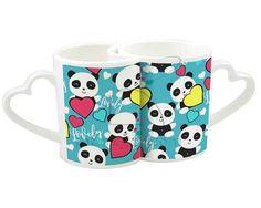 Tazze love con grafica con piccoli panda