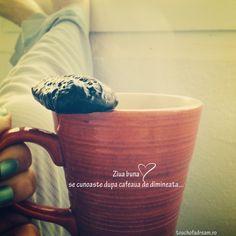 Ziua buna se cunoaste dupa cafeaua de dimineata