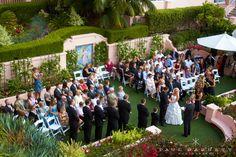 Ceremony area at La Valencia Hotel. Stunning.