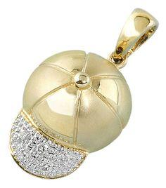Diamond baseball cap.