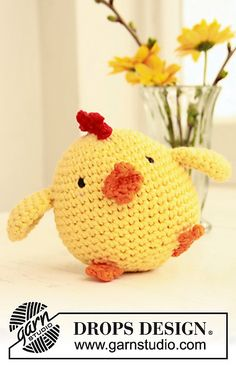 "Ravelry: 0-769 Easter chicken in ""Paris"" pattern by DROPS design"