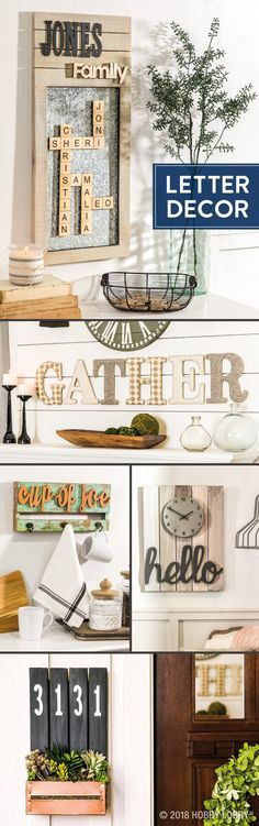 Diy home decor · communicate your style to your family, friends and neighbors, turn to customizable wood letters Wood Projects For Kids, Diy Projects Videos, Kids Wood, House Projects, Wood Crafts, Diy And Crafts, Letters For Kids, Letter A Crafts, Scrabble Crafts