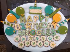 Best Cookies ever.  My friend Grace is a baking genius.  Check her out.  Classy hippie birthday cookies. May 2013.