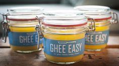 Three Ghee Easy Jars