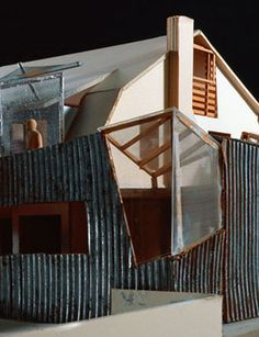 Frank Gehry, Gehry Residence Model, 1977-78 and 1991-94, Santa Monica, California, 16 1/8 x 72 1/16 x 48 1/16 in. MAK-Austrian Museum of Applied Arts/Contemporary Art, Vienna © 2015 Gehry Partners, LLP, photo © 2015 Gerald Zugmann/MAK.