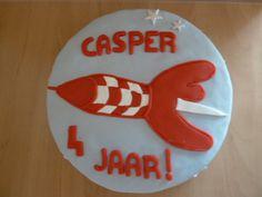 Rakettaart voor Casper Sugar, Cookies, Desserts, Food, Crack Crackers, Tailgate Desserts, Deserts, Eten, Cookie Recipes