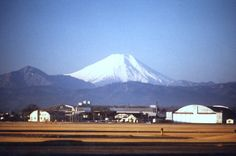 View of Mt. Fuji in Japan form Tachikawa AB.