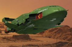 Thunderbird 2 (2015) Spaceship Concept, Concept Cars, Thunderbirds Are Go, New Tv Series, 80 Cartoons, Classic Sci Fi, Sci Fi Horror, Retro Futuristic, Science Fiction Art