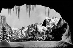 From Wawona Tunnel, Winter, Yosemite, about 1935 Photograph by Ansel Adams. Image courtesy of David H. © Ansel Adams Publishing Rights Trust Photography Exhibition, Street Photography, Nature Photography, White Photography, Photography Composition, Photography Lessons, Photography Workshops, Famous Photographers, Landscape Photographers