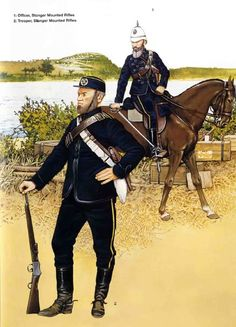 British; Stanger Mounted Rifles, Trooper & Officer, 1879
