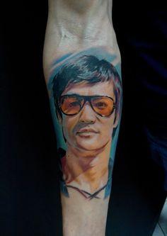 Bruce Lee cleanfun tattoo wroclaw