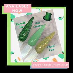 Dip Powder, Powder Nails, Glitter Nails, Dips, Nail Products, St Patrick, Jewels, Colors, Sauces