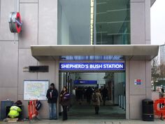 Shepherd's Bush London Overground Station in Shepherds Bush, Greater London