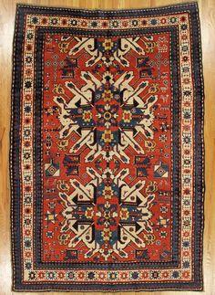 "Eagle Kazak (""Chelaberd Kazak""), Southwest Caucasus, circa 1890.  Dimensions: 8' 2"" x 5' 8"" (249 x 173 cm)"