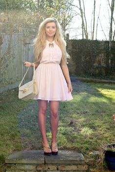 Women's Looks - Candy Floss Fields #dresses #pink #outfit