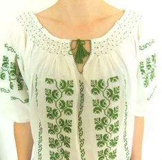 NEW Romanian embroidery folklore inspired by BlouseRoumaine, €110.00