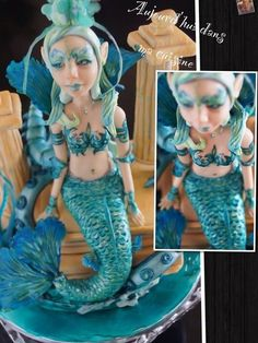 My siren Cake by CécileBeaud