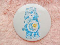 Vintage Retro 90s 80s Care Bears Bedtime Bear Rainbow Pastel Collectable Bear Pin Badge